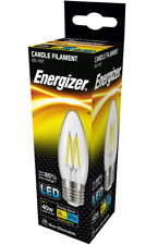 x 2 Energizer 4w (=40w) LED Clear Filament Candle, Extra Warm White (2700k) - ES