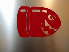 """4 pack N64 SNES NES Mario Bullet Bill Gloss Red Decal Sticker 3"""" 3/4 x 2"""" 1/2"""