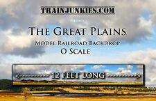 "TrainJunkies O Scale  ""The Great Plains"" Backdrop  24x144""  C-10 Brand New"