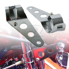 Chrome Headlight Mount Brackets Fork Ears Motorcycle Bobber Cafe Racer 28mm-34mm