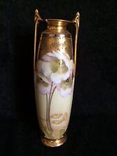 Pickard White Poppy & Daisy signed Vase
