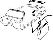 1968 Camaro Convertible Deluxe Outer Door Molding Weatherstrip OE Style Felts