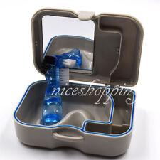 1Pc Dental Box Case With Mirror Clean Brush Appliance Oral Care Denture Storage