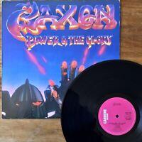 Saxon ~ Power & The Glory (Carrere CAL 147) Near Mint 1983 1st Press UK Vinyl