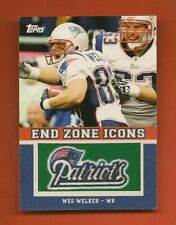 WES WELKER - 2011 Topps End Zone Icons #EZI-86 Patch - Patriots