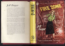 JEFF BOJAR - FIRE ZONE    FIRST EDITION  pulp adventure fiction