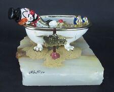Vintage Ron Lee NO VACANCY Clown in Bath Tub Signed 1980