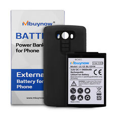 New 9600mAh Extended Battery with Black Case Cover for LG G3 BL-53YH