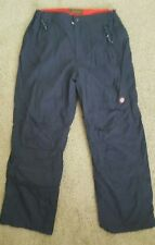 Men's Timberland black insulated nylon elastic waist pants size 33x32 zip ankle