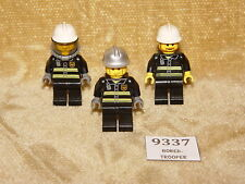 LEGO Minifigs: City: cty026, cty022, twn175 Fire - Reflective Stripes (x3 FIGS)