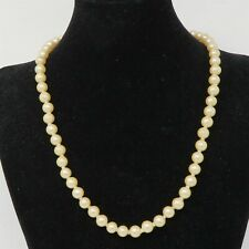 NYJEWEL 7mm Pearl Necklace 20.5 Inches With 925 Silver Filigree Clasp