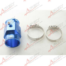 42mm Water Temperature Joint Pipe Sensor Gauge Radiator Hose Adapter Kit Blue