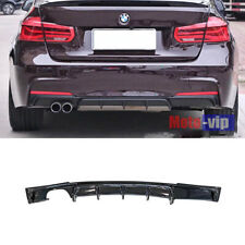 FRP Rear Bumper Diffuser Lip Gloss Black For BMW F30 320i 325i 328i 335i M Sport