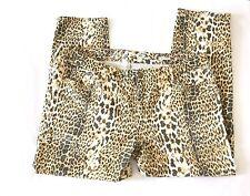 Seven Luxe Jeans Plus size 22 Wide Skinny Jeans Cheetah Print Denim Capri Pants