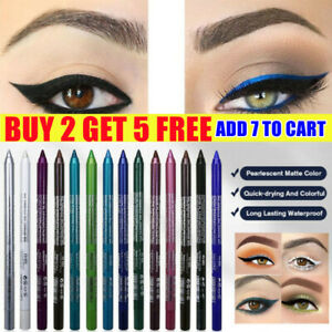 Eyeliner Pencil Matte Glitter Waterproof Eye Shadow Lip Liner Makeup Gel Pen NEW