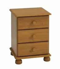 Steens Richmond Solid Pine 3 Drawer Bedside Chest of Bedroom Drawers