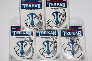 5 packs lazer tro kar trokar swimbait hooks 3/0 tk170-3/0 bass hooks 1/8oz