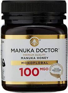 Manuka Doctor 100 MGO Honey MONOFLORAL 250g 100% Pure New Zealand Certified