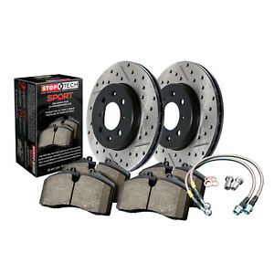 StopTech 978.44000F StopTech Sport Brake Kit Fits 98-10 GS300 GS430 IS300 SC430