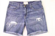 Current Elliott The Roll Short High Low Destroy Women Denim Jean Cutoffs Size 24