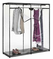 Closet Organizer Portable Clothes Hanging Rack Covered System 60 with Shelves
