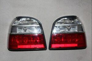 Rare VW Volkswagen Golf GTI mk3 Aftermarket RED WHITE Rear Tail Light Lamp Set