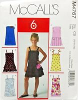 Girls Summer Party Holiday Dress Sewing Pattern M4767 Size 12 14 16 McCalls