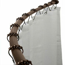 "Adjustable Curved Shower Curtain Rod Bath Tub Venetian Bronze 52 to 72"""