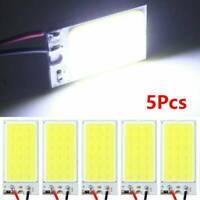 5PCS NEW T10 4W COB Panel Lights LED Car Interior 12V Lamp Bulb Dome White Light