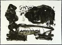 DDR-Kunst/Informel, 1987. Lithographie Frank ECKHARDT (*1959 D), handsigniert
