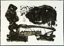 DDR-ARTE/informale, 1987. litografia Frank Eckhardt (* 1959 d), firmato a mano