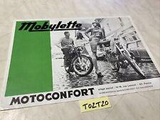 Motoconfort Mobylette Sp98 C52 AU42 AU89 etc catalogue prospectus brochure vente