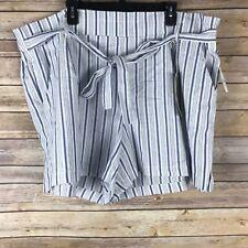 Harmony Havoc Rue 21 Womens Shorts 100% Cotton Woven Tie Waist Back Elastic 24