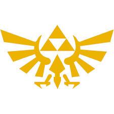 "Legend of Zelda Hyrule Crest TriForce Logo 4"" Decal Sticker Car Window Laptop"