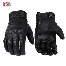 New Vented Genuine Leather Motorbike Motorcycle Gloves Knuckle Protection