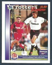 MERLIN-1996-PREMIER LEAGUE 96- #527-BOLTON WANDERERS V NEWCASTLE MATCH PROGRAMME