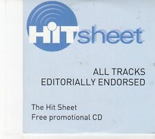 (DW598) Hit Sheet CD #155 - May 2012, 9 tracks various artists - 2012 DJ CD