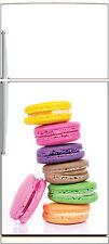 Sticker frigo électroménager déco cuisine Macarons 60x90cm Réf 1335