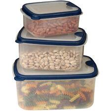 6-pc Food Storage Thick Plastic Set Vented Microwave Dishwasher Safe 69/36/19 oz