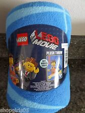 "NEW!  Childs THE LEGO MOVIE 46""x60"" Plush THROW BLANKET"