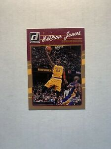 Lebron James 2016-17 Panini Donruss #15 Base Card (With Kobe)