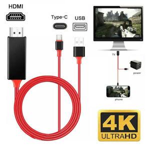 USB C auf HDMI Kabel 4K@60Hz Kabel Kompatibel für Android Smartphones 2M