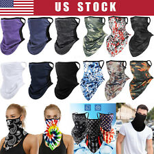 Face Mask Bandana Reusable Washable Cover Neck Gaiter Neckerchief with Loops Ear