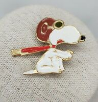 Vintage Peanuts Snoopy Flying Ace Red Baron Lapel Pin United Features