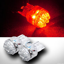 2x 7440 T20 Single Filament 15 LED Red Rear Turn Signal Light Bulb DC 12V 2pc