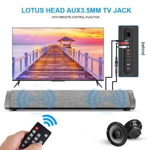 5.0 Bluetooth Soundbar Lautsprecher 10W TV Heimkino 3D Bass Fernsehen Subwoofer