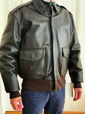 NEW! Legendary Type A-2 A2 Leather Flight Jacket Cockpit Jacket Size 44 / Large