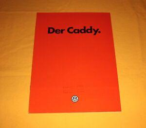 VW Caddy 1983 Prospekt Brochure Prospetto Depliant Catalog Folder Prospecto TAS