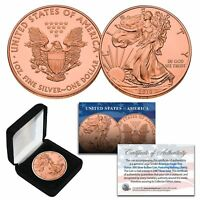 2019 Genuine 1 oz .999 Fine Silver American Eagle Coin 24KT ROSE GOLD Clad w/BOX