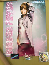 JUSTIN BIEBER Fever Official Fan Club Package - POSTER Stickers Bracelet Card